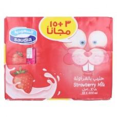 كرتون حليب السعودية فراولة 18*200 مل